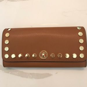Michael Kors brown Wallet with gold studs